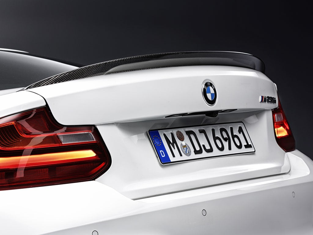 BMW f22 2 series m Performance carbon trunk spoiler - iND Distribution