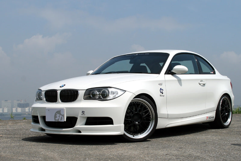 3d design e82 m sport front lip spoiler - iND Distribution