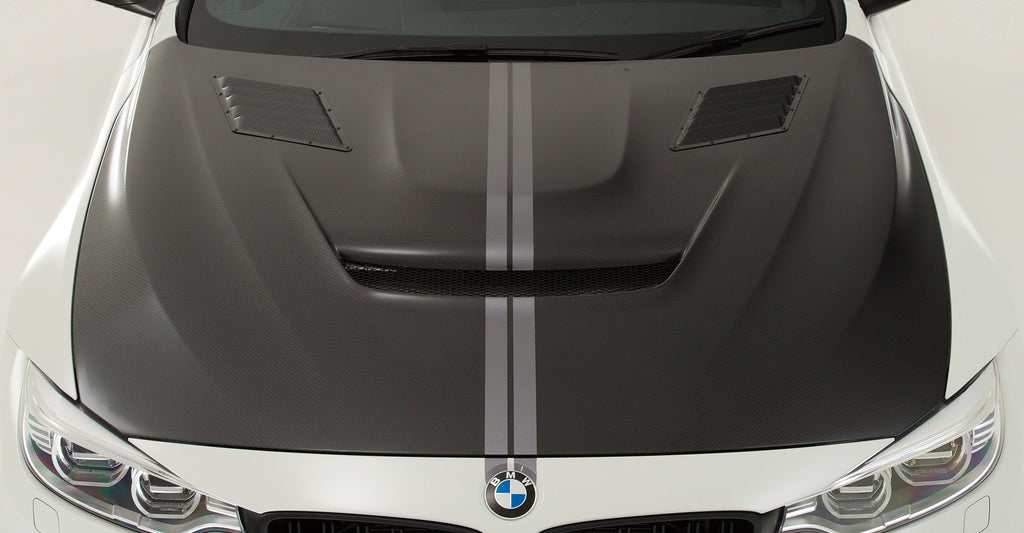 VRS F82 M4 Carbon Fiber Hood (Bonnet) System 2 - With Louver Ducts 1