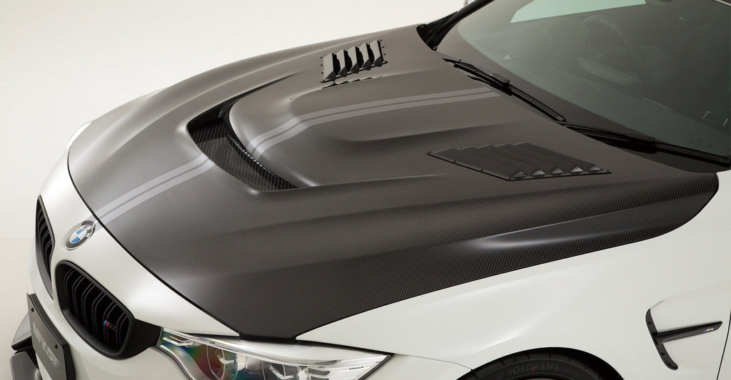 VRS F82 M4 Carbon Fiber Hood (Bonnet) System 2 - With Louver Ducts 3