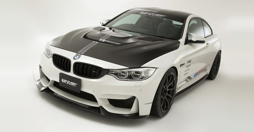 VRS F82 M4 Carbon Fiber Hood (Bonnet) System 2 - With Louver Ducts 2