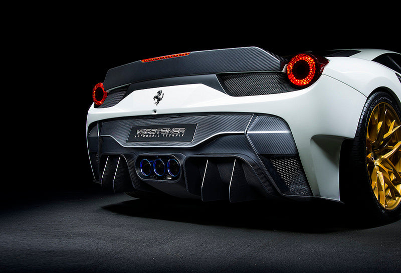 Vorsteiner 458 Italia Carbon Rear Bumper with Diffuser and Exhaust Tips  4