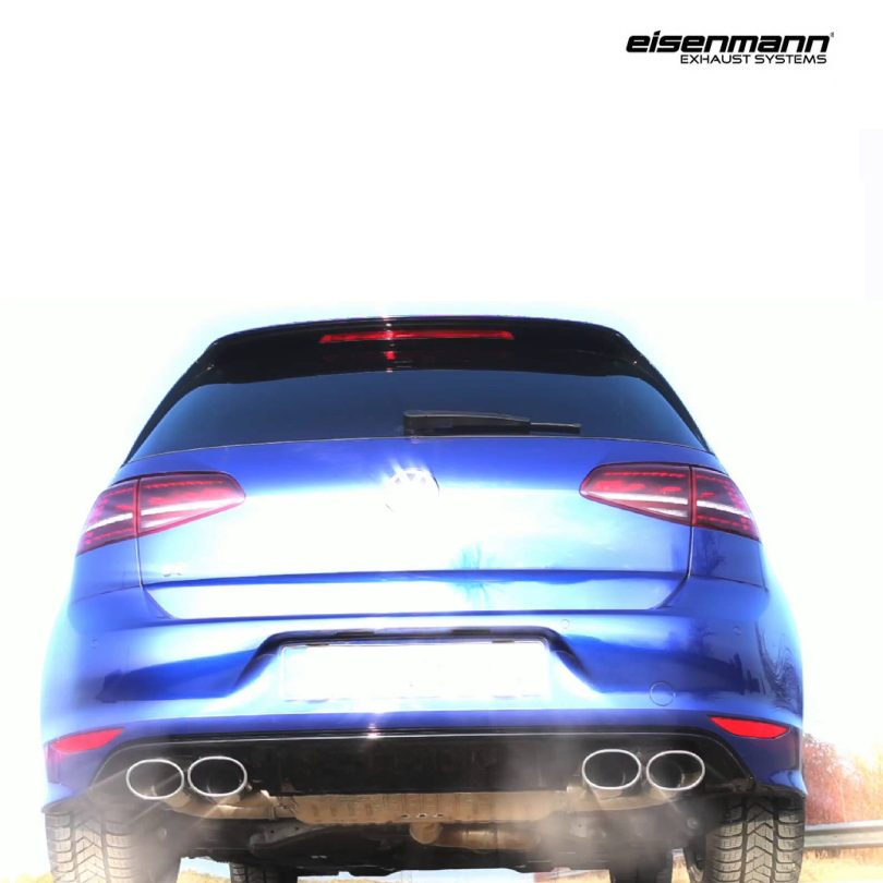 Eisenmann Golf R MKVII Performance Exhaust 4