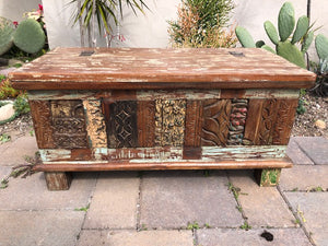 Vintage Carved Chest - Indonesian