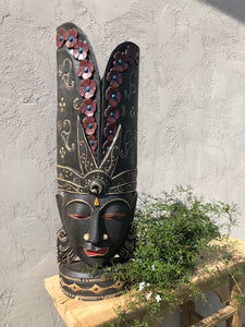 Hand Carved Mask/Black - Indonesian