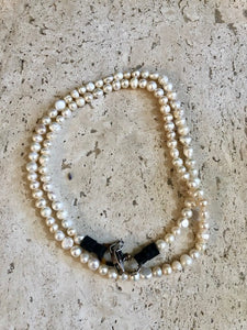 Pearl Strand w/Leather Closure