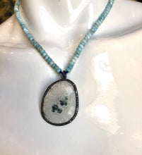 Load image into Gallery viewer, Phantom Quartz w/Aquamarine Beads