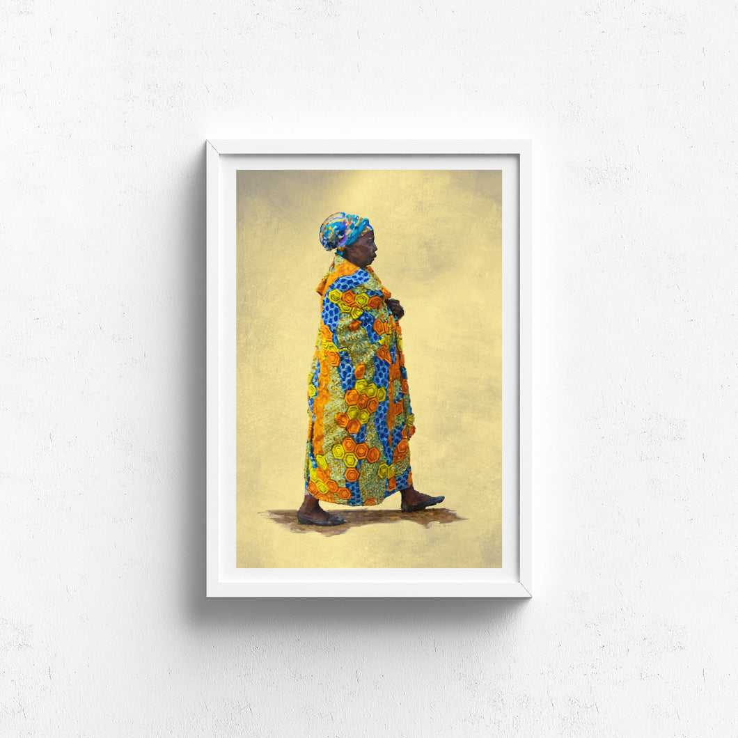 People of Uganda Series -Vibrant Elder - Claire Gunn