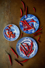 Chillies on Blue Willow - Claire Gunn