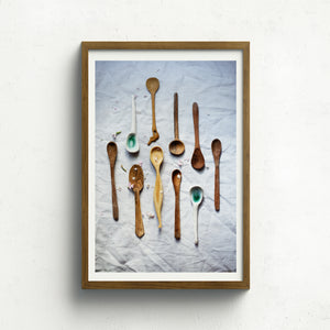 Wood and Ceramic Spoons - Claire Gunn