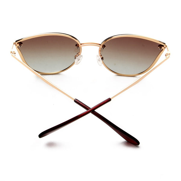"Tiara-  ""Tahiti Please!"" Smokey Quartz Shade European Oversized Ladies Sunglasses - TiaraBleu"