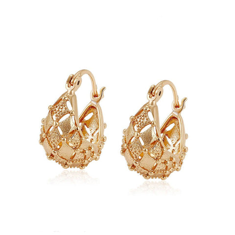 Veneziano 18k Gold Rose Plated hoops - TiaraBleu