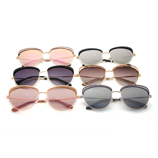 Lucia Vintage Black Shade European Cats-eye Ladies Sunglasses - TiaraBleu