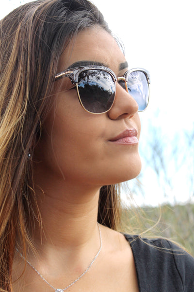 "Tiara- ""Silver Lining"" Sunglasses- European Ladies Unisex Sunglasses - TiaraBleu"