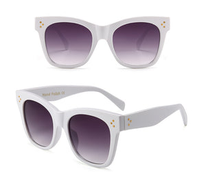 Frenchie White Ivory Retro Womens Sunglasses