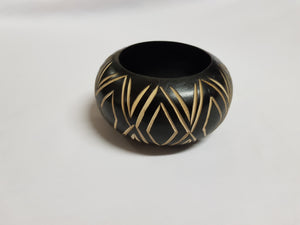 Chunky Wooden-Carved-Out bangles