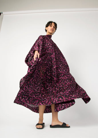 Oversized silk/cotton caftan dress