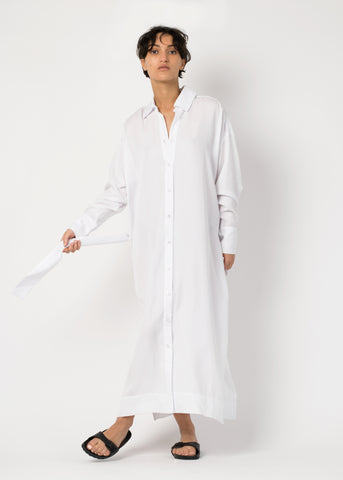 Shirt dress in tencel