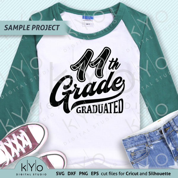 11th Grade Graduation svg cut files, School Svg, Eleventh grade svg. Fully compatible with Cricut Design Space, Silhouette Studio, Scan n Cut Canvas and other graphic software.
