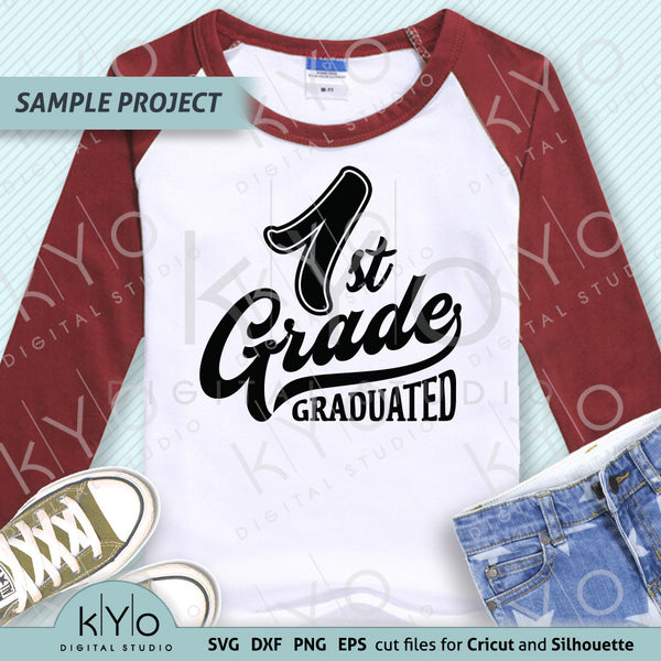 1st Grade Graduation Shirt Design SVG PNG DXF EPS cut files, Primary School Svg, First grade svg, Nailed it svg files for Cricut and Silhouette.