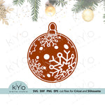 3D Christmas Tree Snowflake Ball Svg Png Dxf Eps files