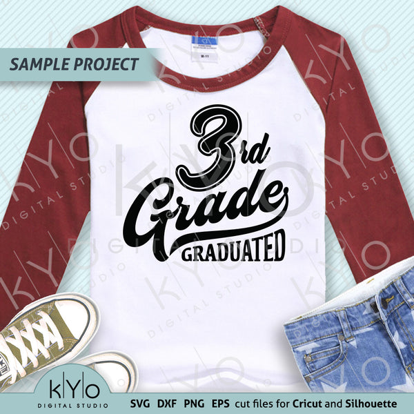 3rd Grade Graduation Shirt Design SVG PNG DXF EPS cut files, Primary School Svg, Third grade svg, Nailed it svg files for Cricut and Silhouette.