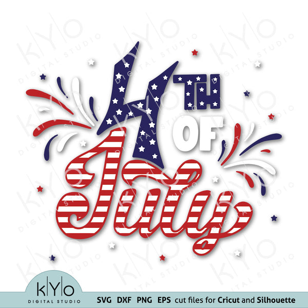 Hand Drawn 4th of July Svg Png Dxf Cutting design files by kyodigitalstudio.com