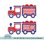 4th of July American flag Steam Train SVG, Independence Day SVG, Flag pattern svg files for Cricut and Silhouette fourth of july svg Commercial use svg