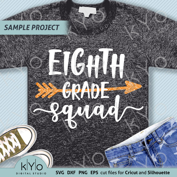 Eight grade squad Teacher shirt svg