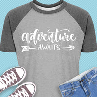 Adventure Awaits shirt design svg
