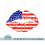 American Flag Lips Svg, US Flag Lips Svg, 4th of july svg, stars and stripes svg @kyodigitalstudio