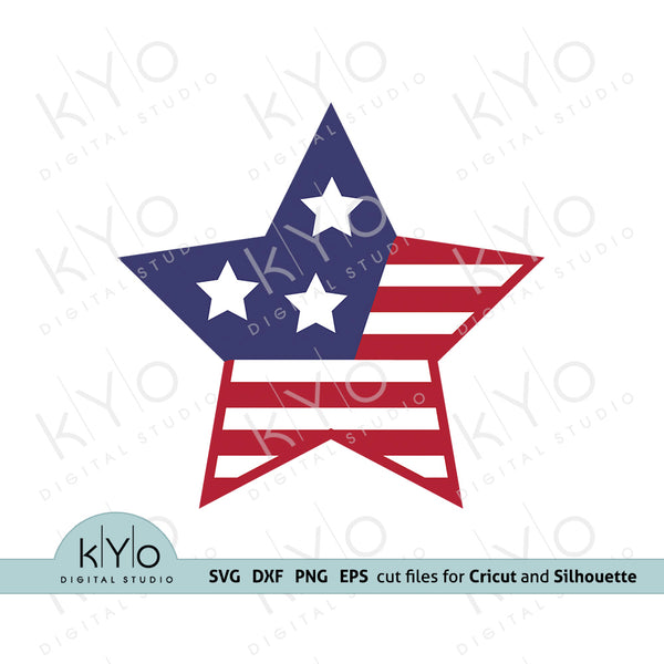 4th of July Stars and stripes svg, American star svg, American US flag svg, Independence Day svg, Fourth of July SVG files for Cricut, Silhouette, Brother and Sizzix