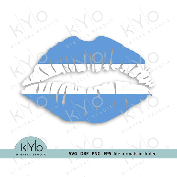 Argentina Flag Lips Svg Png Dxf Eps Files - kYoDigitalStudio.com