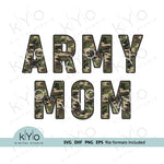 Army Mom Shirt Design Svg