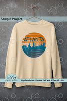 Atlanta Skyline Sublimation design.