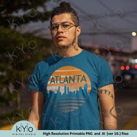 Atlanta Skyline Sublimation printing design.