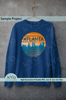Atlanta Skyline Png Graphic