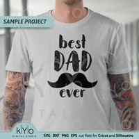 Best dad ever svg cut files fathers day shirt design 01