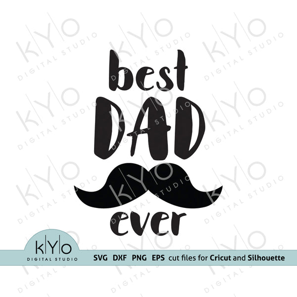 Best dad ever svg fathers day shirt design 01