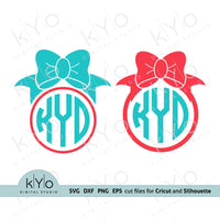 Bow Svg, Bow Monogram Svg, Girl t-shirt design Svg, Bows svg, Monogram frame svg, png, dxf, iron on decal design