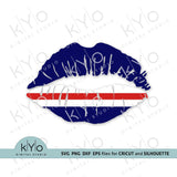 Republic of Cabo (Cape) Verde flag lips svg png dxf files-kYoDigitalStudio