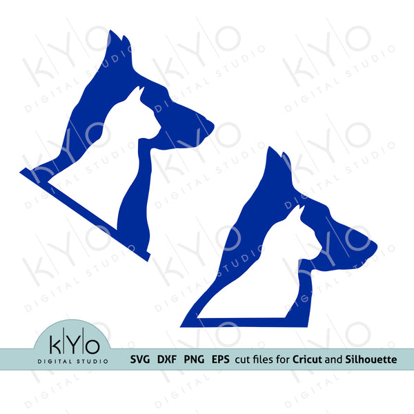 Dog Cat Logo, Veterinarian svg, Veterinarian Logo svg, Vet Logo Design Svg, Cat Dog Svg for Cricut and Silhouette crafts, vet clinic logo