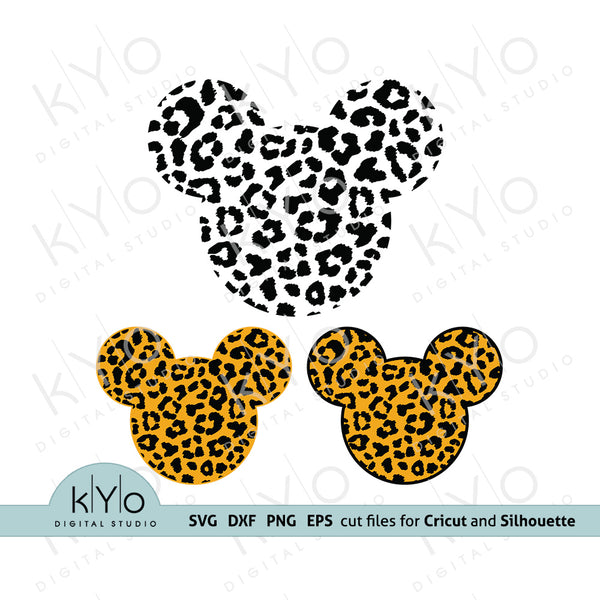 Cheetah Mickey Mouse Svg, Leopard Mickey Mouse Svg, Cheetah Mickey svg, Leopard Mickey svg, Svg Cutting files, Printable Png files.
