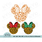 Cheetah Minnie Mouse Svg, Leopard Minnie Mouse Svg, Cheetah Minnie svg, Leopard Minnie svg, Svg Cutting files, Printable Png files.