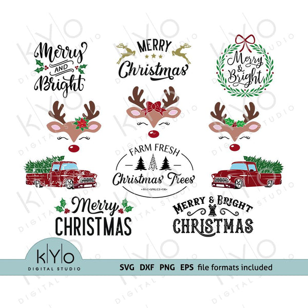 Christmas Svg Bundle kYoDigitalStudio