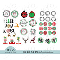 Christmas svg cut files bundle
