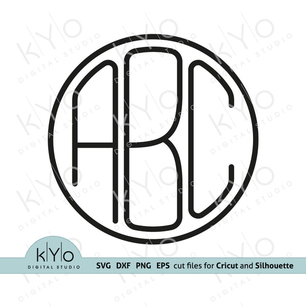 Circle-Monogram-Font-Svg-Thin-Monoline