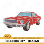 Ford Mustang Machine Embroidery design