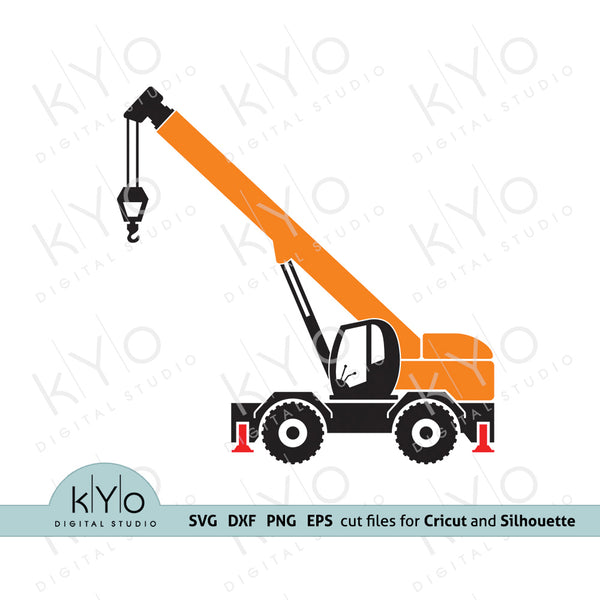 Construction Crane svg cut files-kYoDigitalStudio