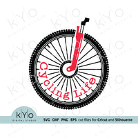Cycling Life SVG Files MTB Shirt Design - kYo Digital Studio